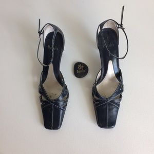 Linea Paolo Square Toe Baby Doll Heels Size 9.5 N